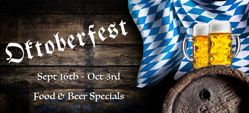 Okterbest Festival Sept 16 - Oct 3 at Trailside Cafe Carmel Valley